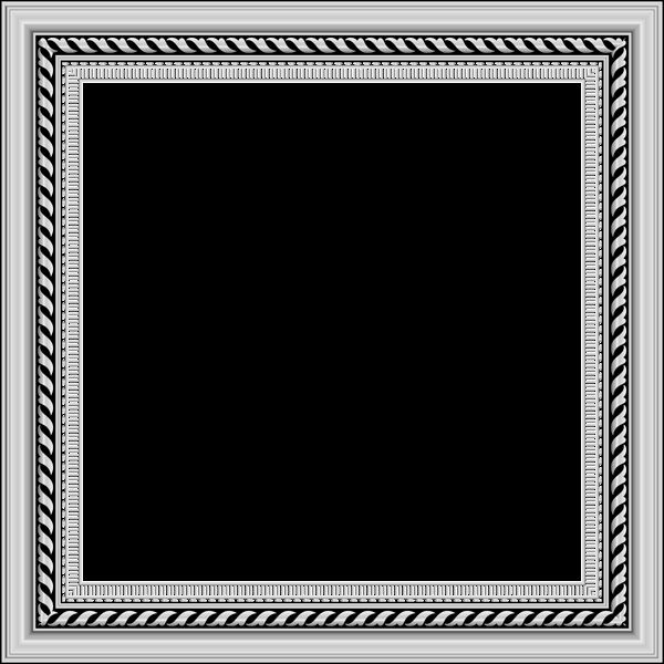 Transparent Silver PNG Photo Frame
