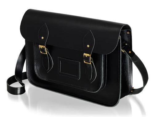 "The 14"" Saddle Leather Satchel in Black www.cambridgesatchel.com/buy/saddle-leather-satchel/ www.cambridgesatchel.com/us/buy/saddle-leather-satchel/"