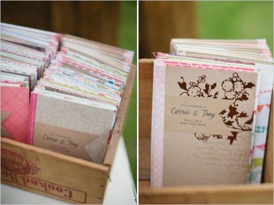 recipe book wedding favors