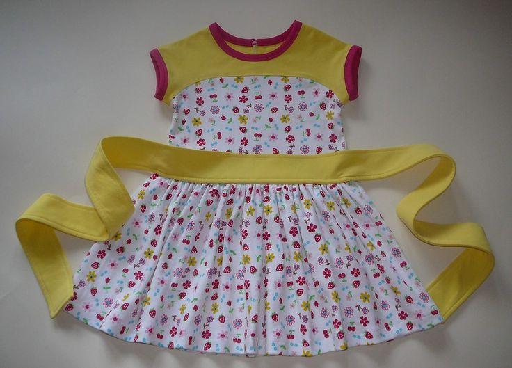 МК платье с частично вшитым поясом автор A2fluence