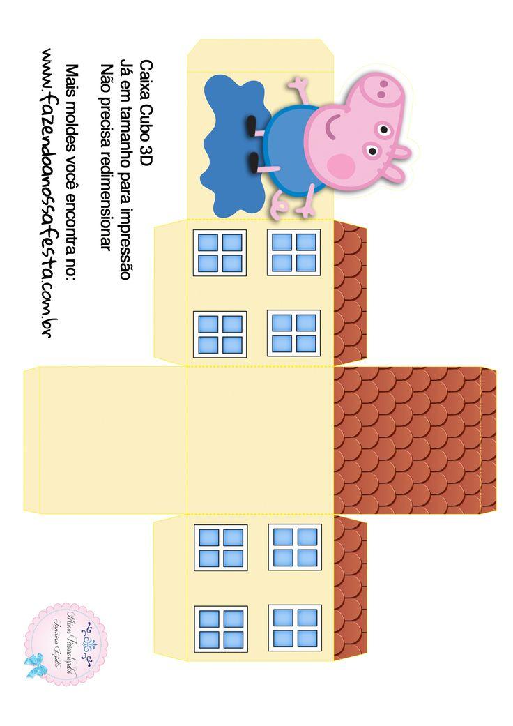 Caixa Cubo 3D George Pig                                                                                                                                                                                 More