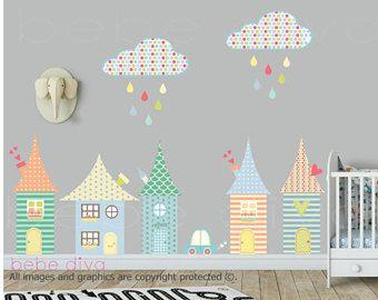 Popular Stadt Wandtattoo Wandtattoo Kinderzimmer Wand Aufkleber Kinderzimmer Baby Wandtattoo Kinder Wandtattoo