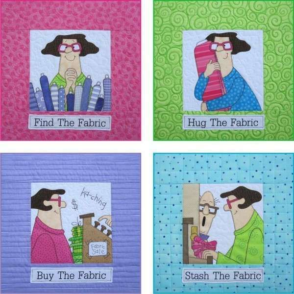 FABRIC ADDICT WALL HANGING & TOTE BAG PATTERN, From Amy Bradley Designs NEW #AmyBradleyDesigns