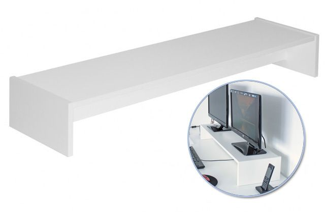 Doppel-Monitorständer f. Galant - Farbe weiß von NewSwedishDesign via dawanda.com