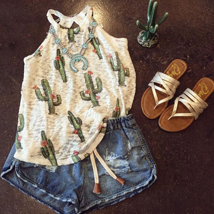"177 Likes, 22 Comments - STIDHAM OUTFITTERS  (@stidhamoutfitters) on Instagram: ""Summer style...  Squash $38 Cactus tank $28 (avail in M & L more coming next week!) Shorts $64…"""