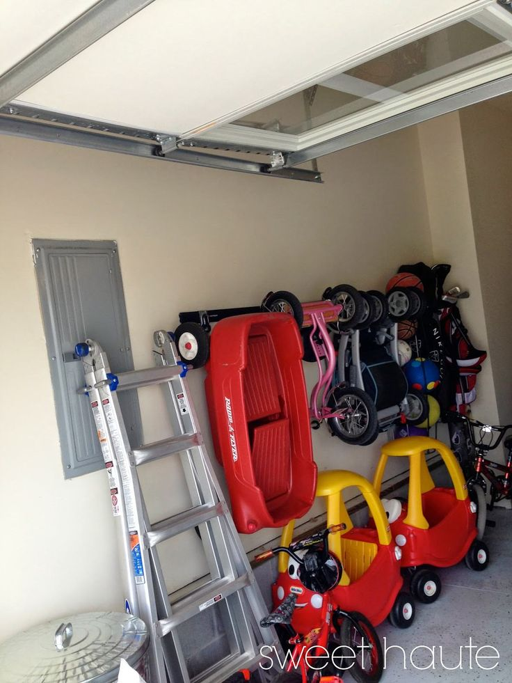 Source: SweetHaute.blogspot.com 9. Garage Track System Let's not forget about the other play area, your garage. I personally have a Cozy Coupe, tricycle, baby doll stroller, and variety of other ridable toys that park right next to my grown up car. If we get many more toys, there's going to be a turf war. TheContinue Reading...