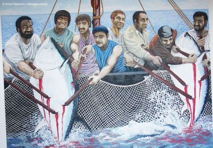 During a trekking at Riserva dello Zingaro we visited the #Museo delle Arti Marinare and among nets and harpoons there was this #painting, it's La Mattanza, the famous Tuna Slaughter ablogaboutsicily.wordpress.com