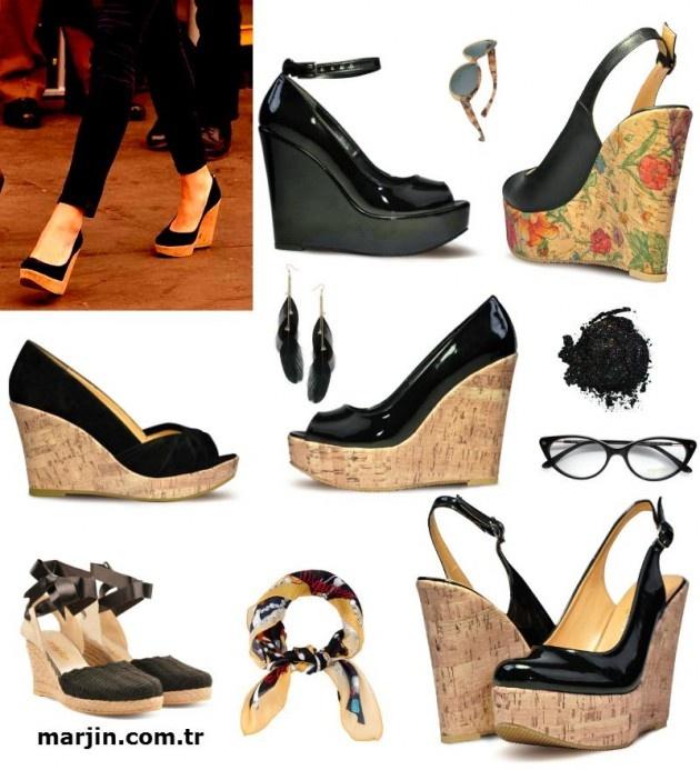 Siyah Dolgu Topuklu Ayakkabı 2013