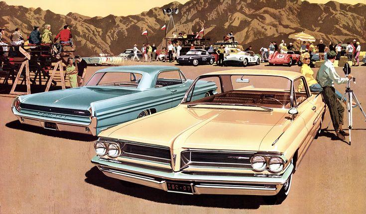 Plan59 :: Classic Car Art :: 1962 Pontiac Grand Prix