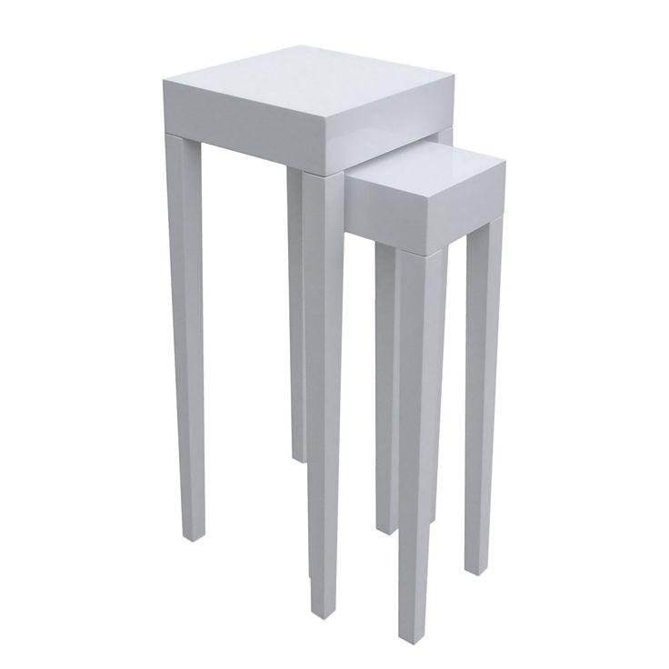 Beistelltisch Nadawa (2-teilig) - Weiß, Fredriks Jetzt bestellen unter: https://moebel.ladendirekt.de/wohnzimmer/tische/beistelltische/?uid=75de28a3-cc0b-5413-aed9-232a80457f37&utm_source=pinterest&utm_medium=pin&utm_campaign=boards #möbel #fredriks #beistelltische #couch #wohnzimmer #tische