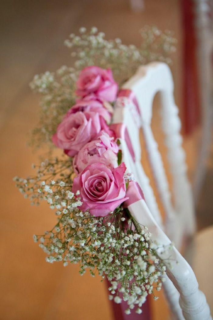 rosa Rosen als Deko