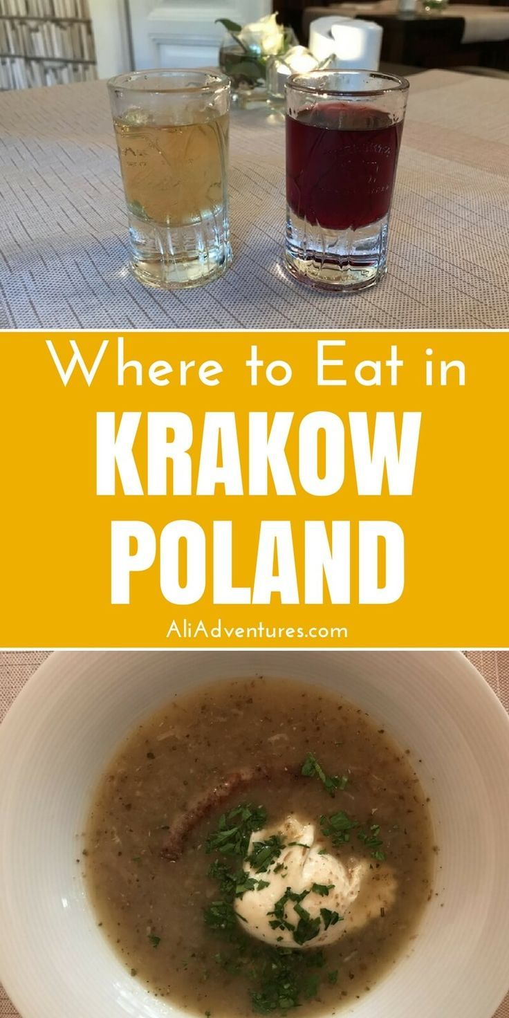 Krakow, Poland is a gorgeous city with lots to do and see and plenty of good food. Check out my tips for where to eat in Krakow plus things to do in Krakow.