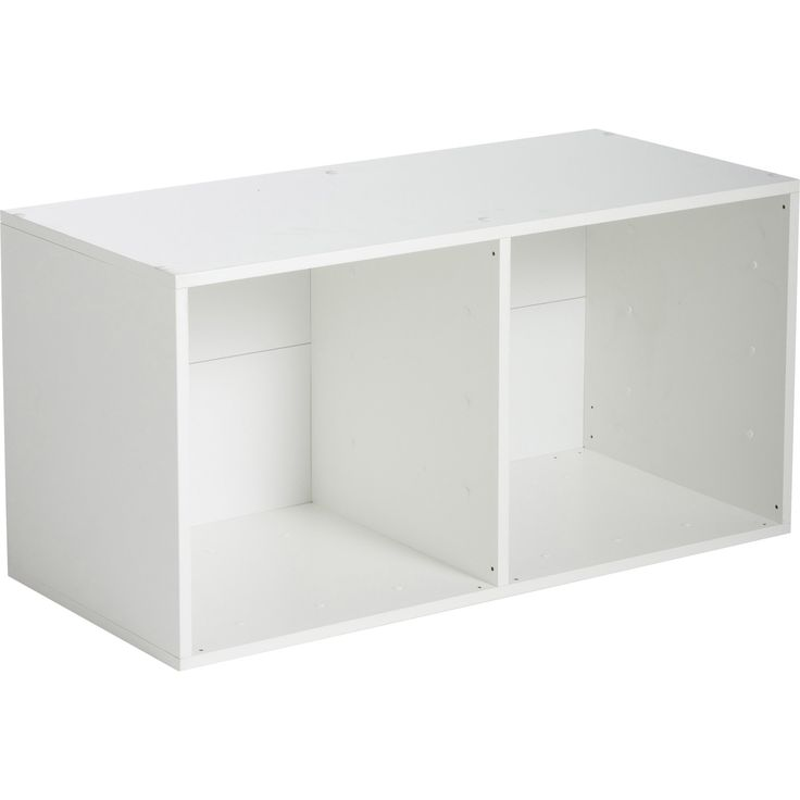 Etag re 2 cases multikaz blanche l35 2 x h69 2 x p31 7 cm leroy merlin ca - Etagere garage leroy merlin ...