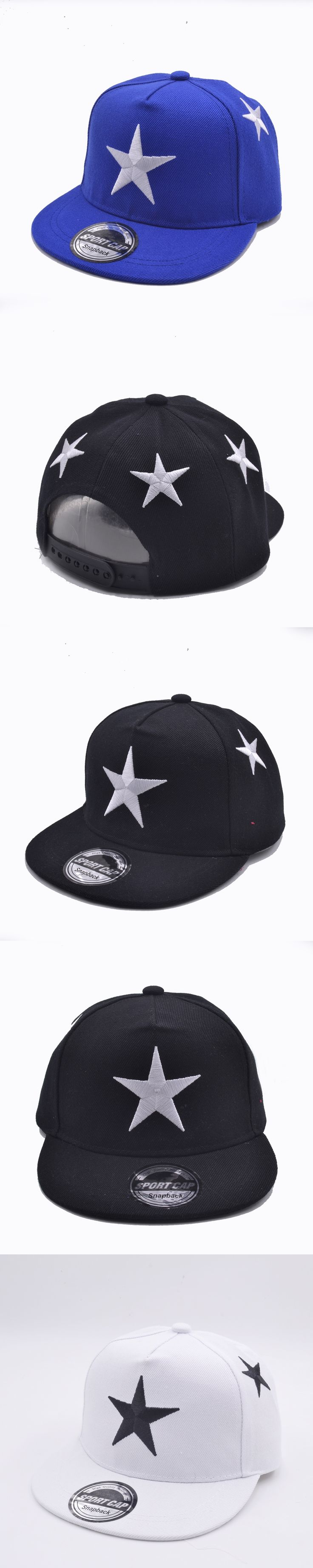 d248f9ea989 New Summer Children Boys Girls Five Star Embroider Snapback Adjustable Kids Baseball  Hat Hip Hop Hat Outdoor
