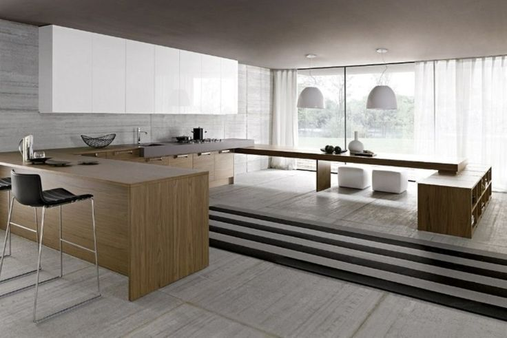 Elevated Dining Area Minimalist Kitchen Designs Ideas
