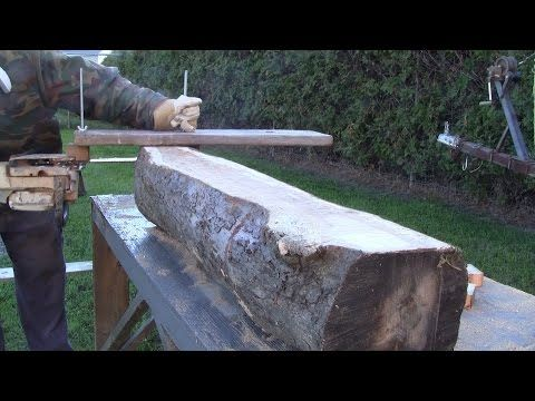 Awesome inexpensive Alaskan chainsaw mill for making wooden boards