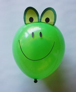 Free Balloon Animal Frog Template---a fun and easy way to depict one of the ten plagues of Egypt