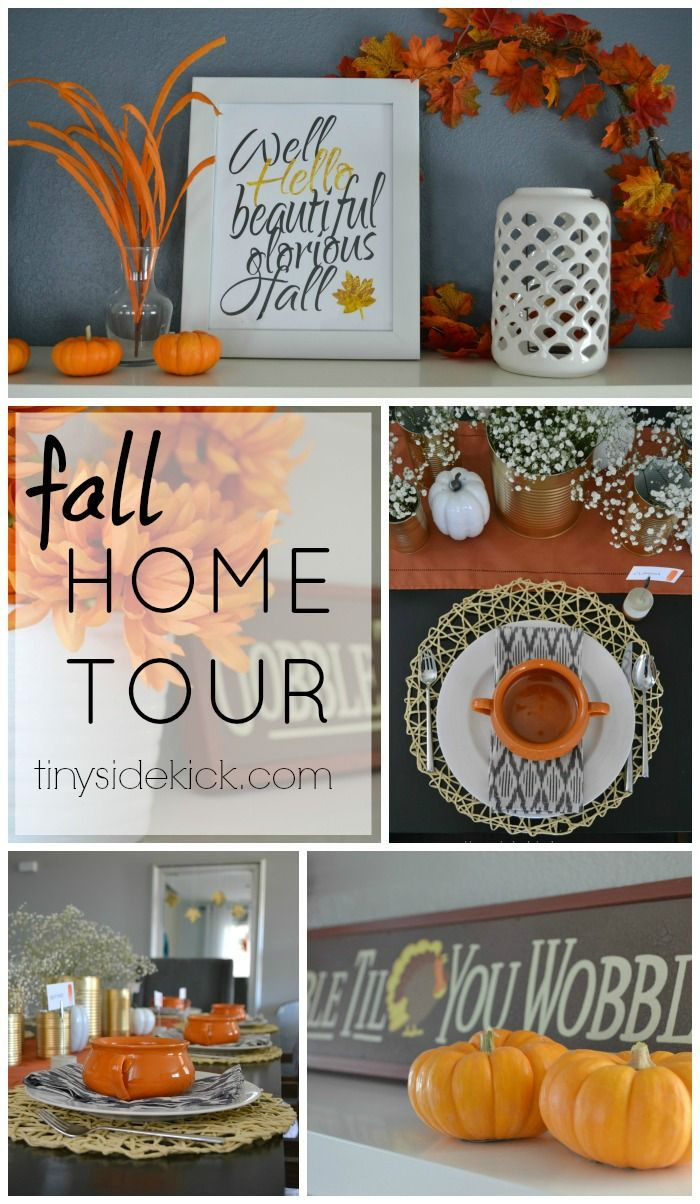 mens designer clothes Fall Home Tour  Love the simplicity and fun colors of this fall home tour   falldecor