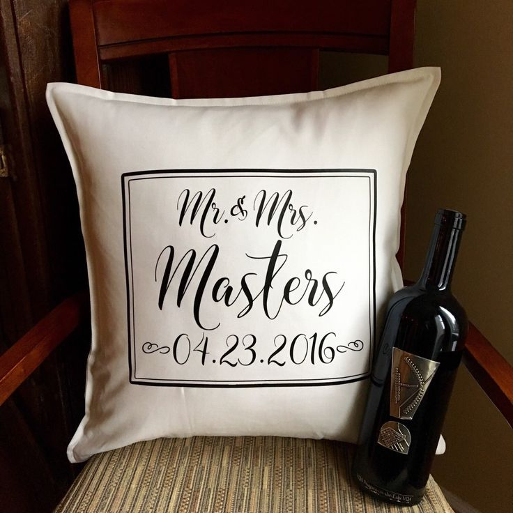 Mr and Mrs Pillow, Wedding Date Pillow, Wedding Gift for Couples, Gift Under 30, Wedding Pillow, Personalized, Established Date Pillow by PMWBoutique on Etsy https://www.etsy.com/listing/261567218/mr-and-mrs-pillow-wedding-date-pillow