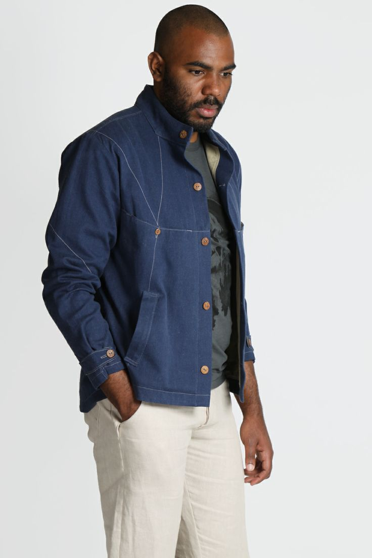 chaqueta azul