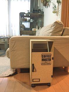 準備は2カットのみ!ダイソーMDF材だけでサイドテーブルにもなるゴミ箱カバー♪|LIMIA (リミア)