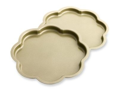 Celebration Layer Cake Pans {Set of 2} 29.95 Makes layers half the thickness of standard cake pans for layered, tiered cakes