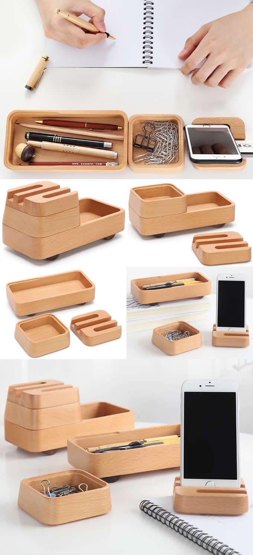 3 Tier Modular Desk Organizers Smart Phone Mobile Phone Dock Stand Office Desk Stationery Organizer Paper Clip Holder Modular Desk Desk Organizers Phone Dock