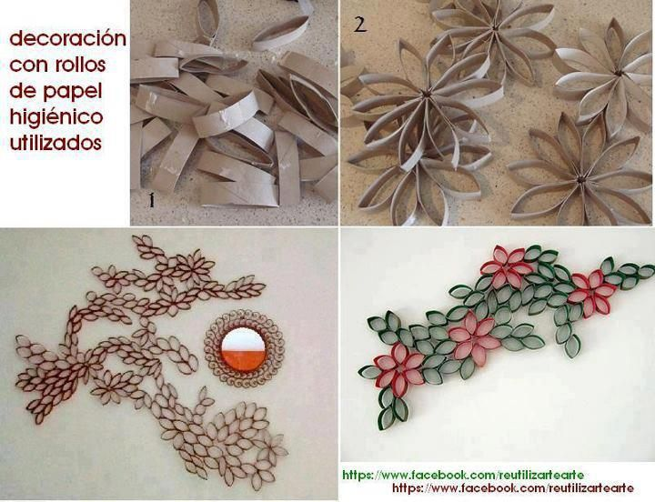 17 best images about reciclar rollos de papel de ba o on for Decoracion de navidad con papel