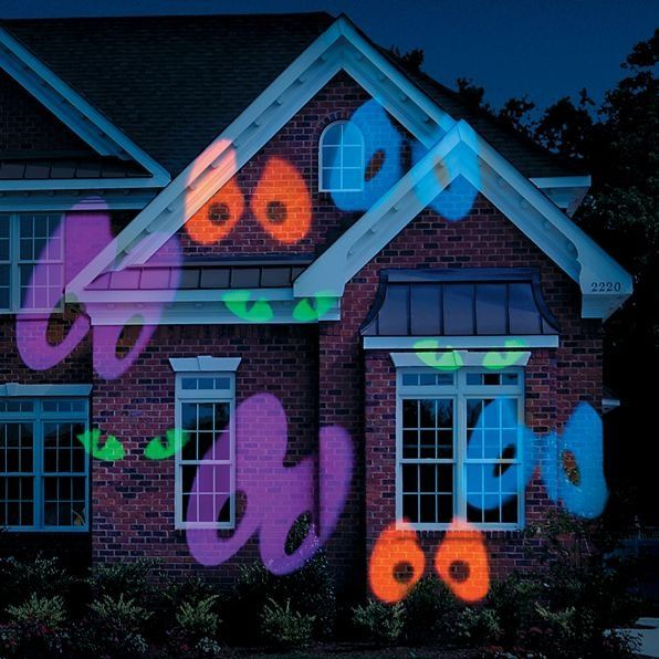 Just aim this Halloween light projector at your house, and you'll see an assortment of orange, green, blue, and purple eyes moving in a continuous criss-cross motion.