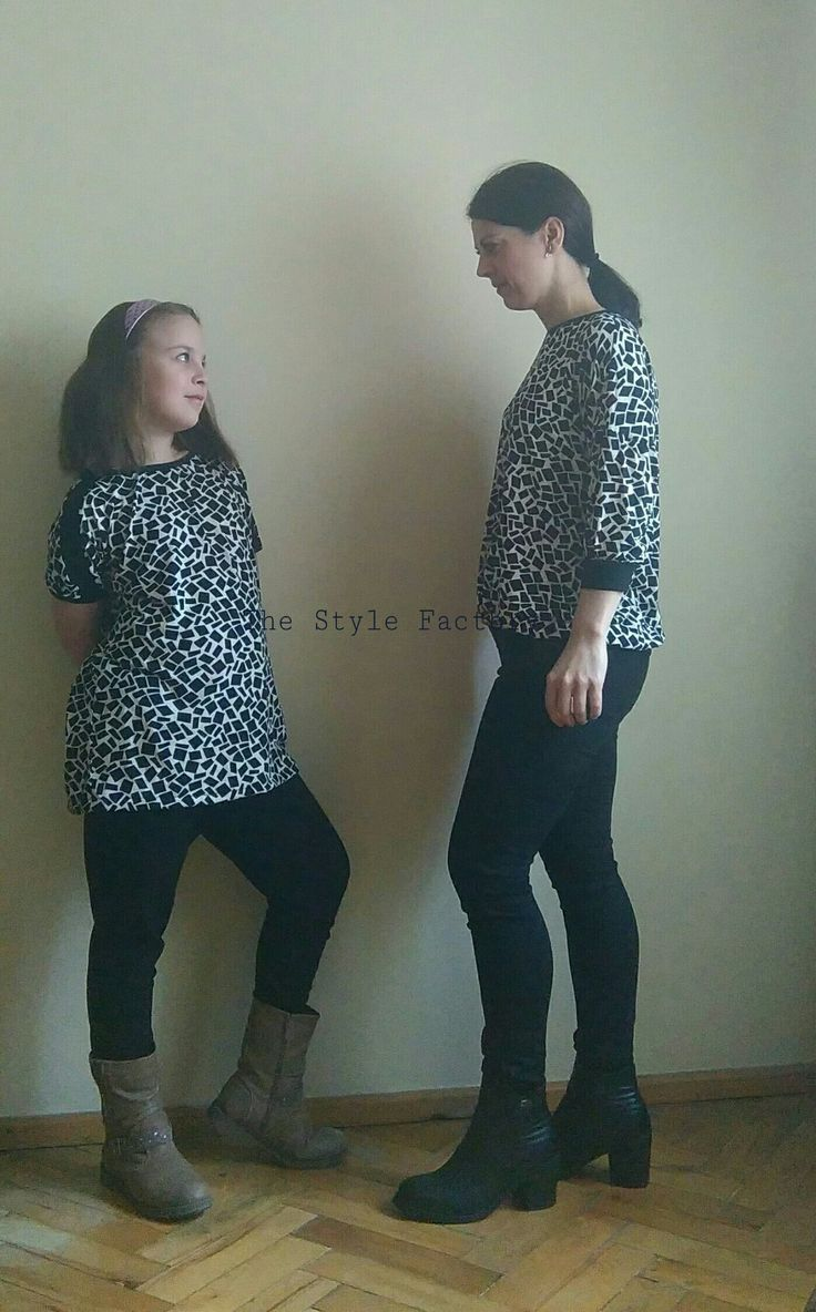 Two blouses - ecru in black print // thestylefactory.pl //
