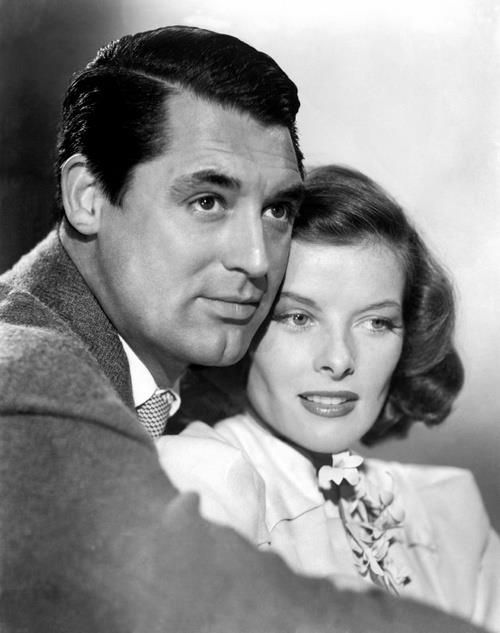 Cary Grant & Katherine Hepburn--the golden age of hollywood's