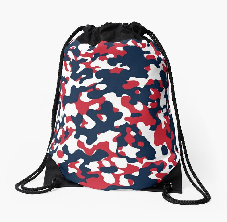 Red, White & Blue Camo Design #2 by canossagraphics
