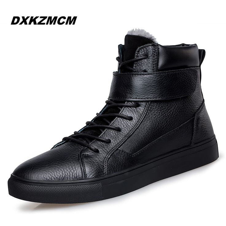 Cheap Price 2016 Fashion Winter Men Shoes Lace Up Super Warm Cow Leather  Men Boots