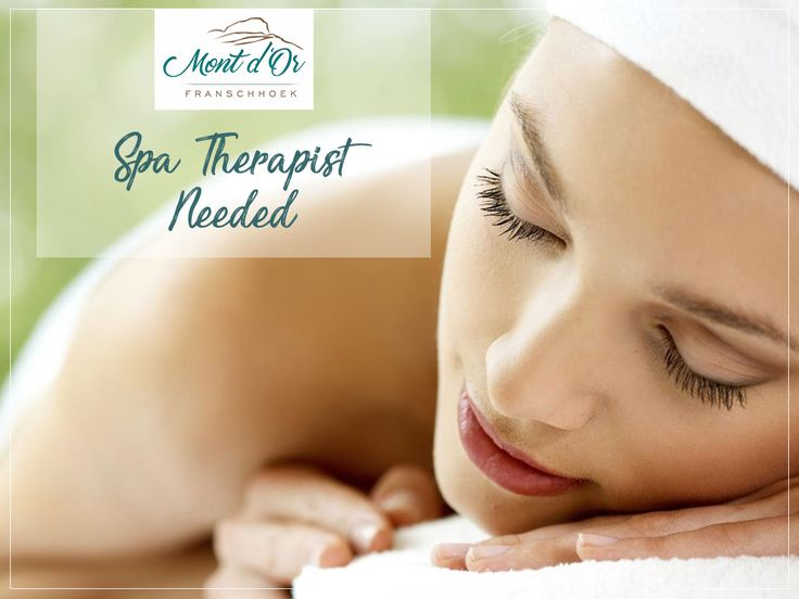 Mont d'Or Franschhoek is looking for a Spa Therapist. Available as soon as possible.   If interested, please send your CV to: aldeklerk@gmail.com
