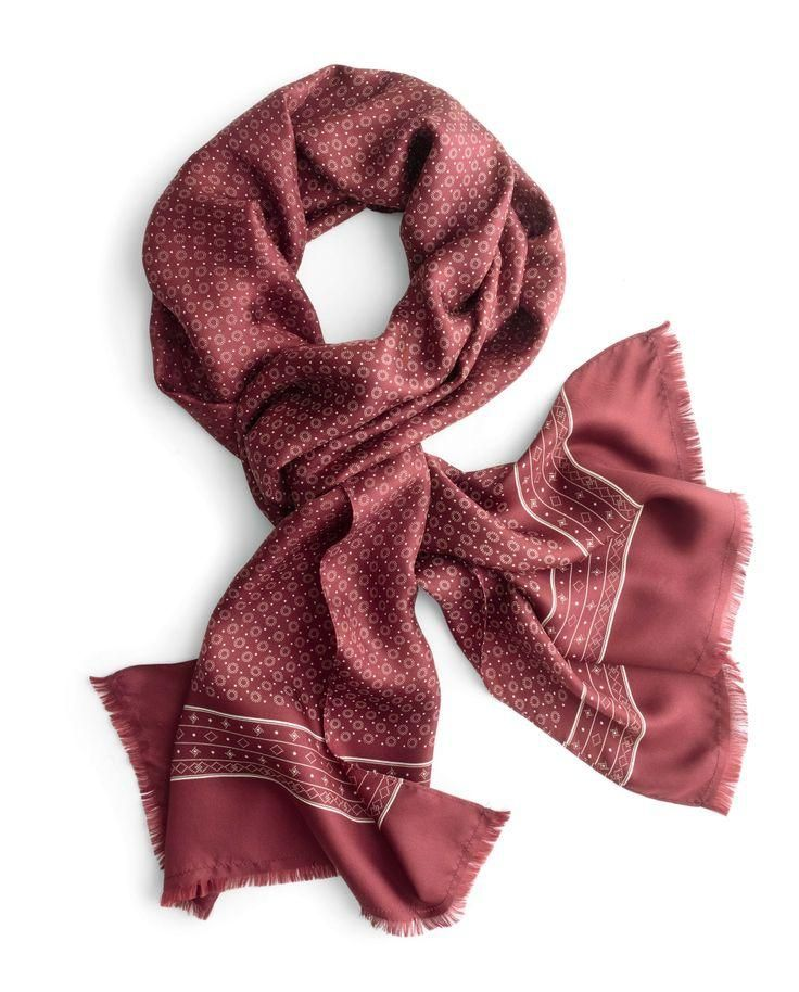 J.Crew patterned silk scarf.