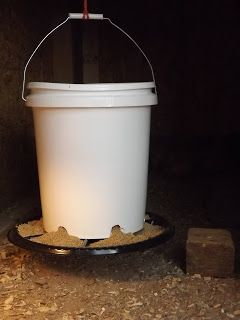 Hey-another use for those 5 gal buckets!!! Homemade chicken feeder-go figure