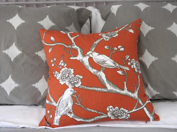 The Most Controversial Design Trends Ever: Bird Pillow, Romantic Bedrooms, Orange Pillows, Design Trends, Colors, Throw Pillows, Color Pop, Color Orange, Color Combination