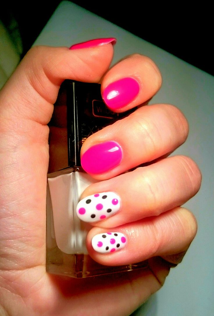 #nails #Pink #white