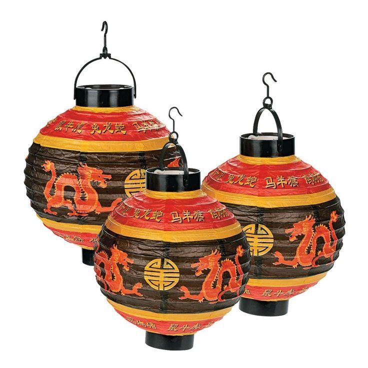 Chinese Light-Up Hanging Paper Lanterns