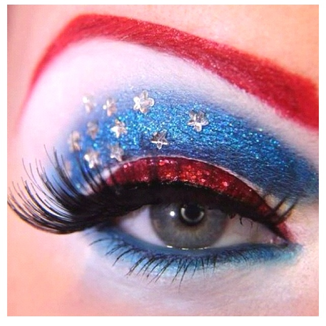 4th of July makeup(: