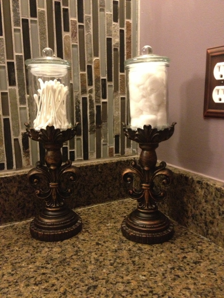 Functional bathroom accent pieces  6  candle holder with 3  jar from hobby  lobby. 17 Best images about Hobby lobby on Pinterest   Wall decor  Wooden