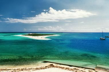 In the Gulf of Mexico about 70 miles off of Key West lies a seven-mile-long chain of islands – the centerpiece of Dry Tortugas National Park. This bird and marine life sanctuary—named for the turtles populating the area—contains some of the healthiest coral reefs remaining along North American shores, plus legends of pirates and sunken gold.The area is also known for its legends of pirates, sunken gold, and military past.