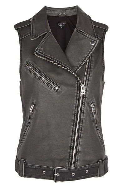 Main Image - Topshop Blaze Faux Leather Biker Vest