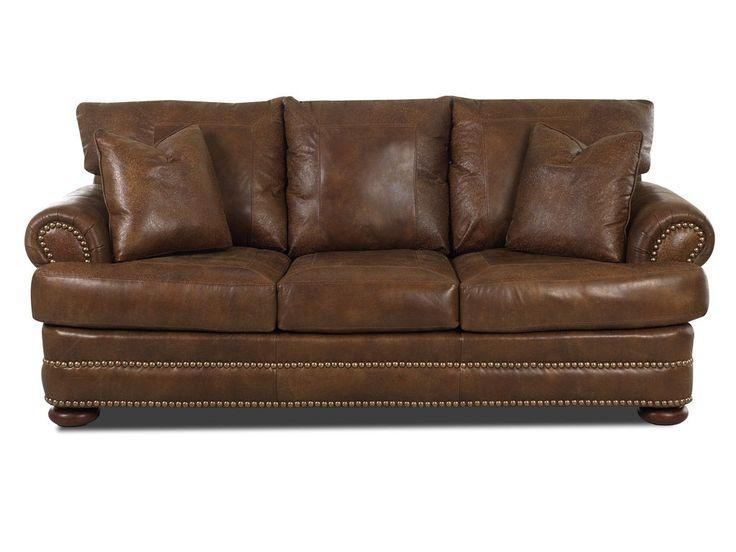 Klaussner Living Room Montezuma Sofa W Lthr LD43800 10 S
