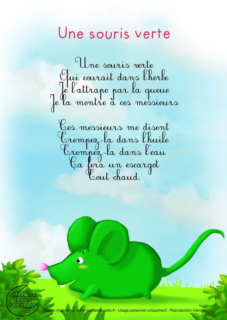 Paroles_Une souris verte                                                                                                                                                                                 Plus