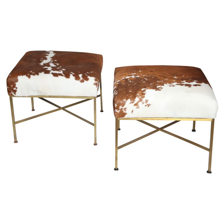 Pair of Paul McCobb Stools. You know me... love the hide, and McCobb.
