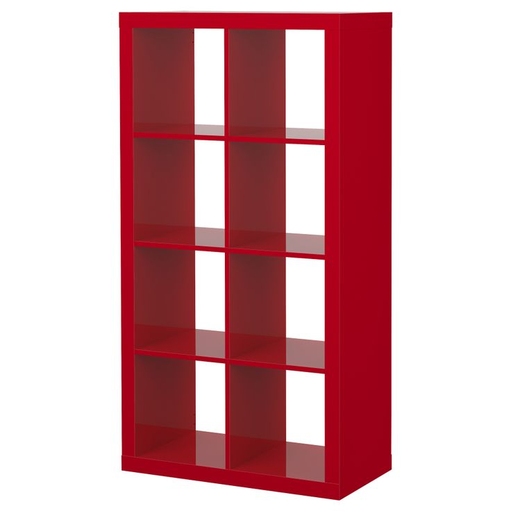 EXPEDIT Shelving unit - high-gloss red - £80 from Ikea.com - could be use to separate the living room and the dining room if necessary. Comes in several colors including white and brown/black. You can also lie it down.