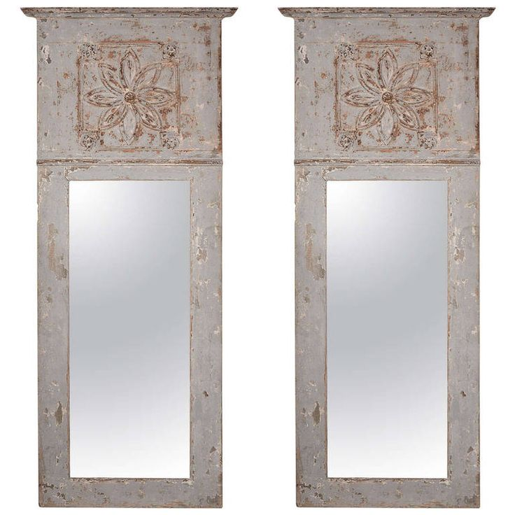 painted and carved french trumeau mirror from provence provence modern and antiques. Black Bedroom Furniture Sets. Home Design Ideas