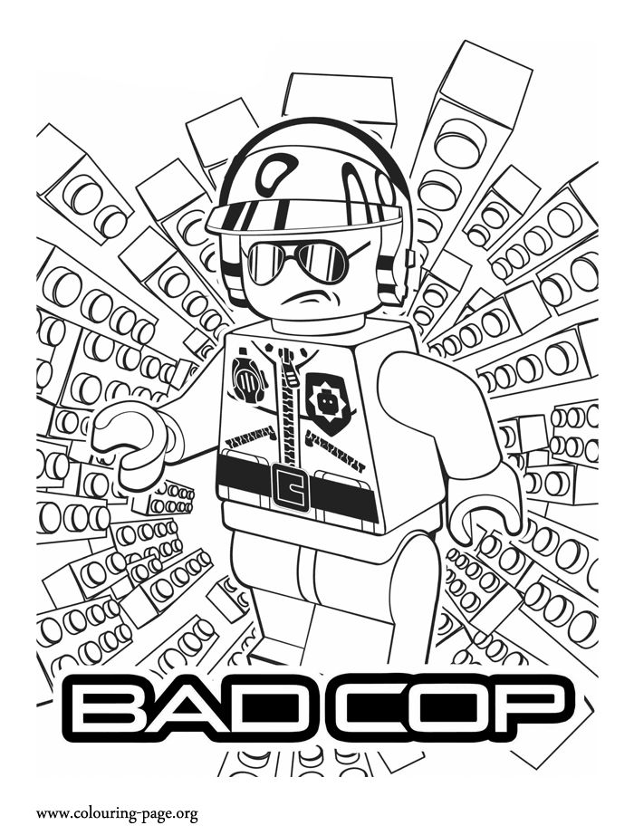 bad cop lego movie coloring pages different characters emmet benny wyld - Lego Movie Free Coloring Pages 2