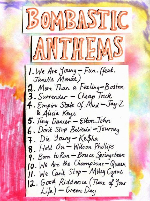 bombastic anthems